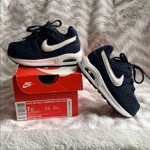 Nike Air Max Navy/White, Toddler sz 7 EUC